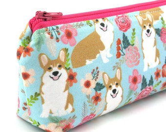 Corgi Dog Pencil Case - Pencil Pouch - Zip Pouch - Small Bag - Zipper Pouch - Planner Pencil Case Organiser