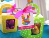 Instant Download - EASTER Party Favour Tags Printable (Pink)