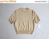 25% OFF SALE st john gold knit blouse | gold blouse | st john knits