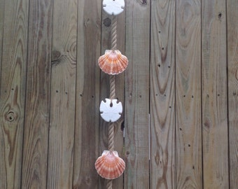Vintage Seashell Printer Tray With Towel Rod By Tidepoolstudio