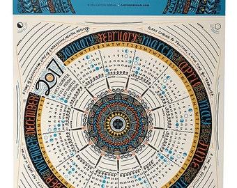SALE (2 for 1) 2017 Calendar / Wall Calendar / 2017 Wall Calendar / Lunar Calendar / 2017 Calendar Poster / Large Calendar 2017