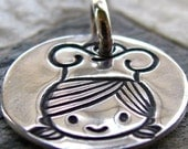 ON SALE Silver Cooking Chef Charm, PMC Fine Silver, Cooking Jewelry