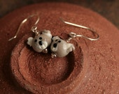Quirky Koala...Artisan glass lampwork Koala earrings by Simply Cindy