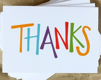Colorful Thank You Notes