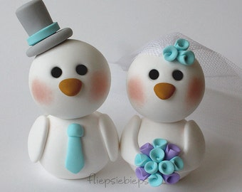 Custom Bird Cake Topper wedding