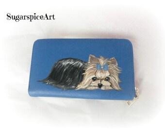 Custom Hand Painted Dog Wallet
