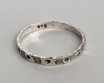 Size 7.5 or custom - Flying Sun Sterling Silver Ring - SayLaVee - Modern Artisan