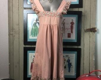 Fall sale 1970s dress prairie dress size small Vintage dress cotton dress summer dress hippie dress bohemian dress 70s dress