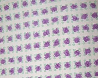 Morgan Jones Purple Rosebud Chenille Bedspread Fabric  sewbuzyb sst