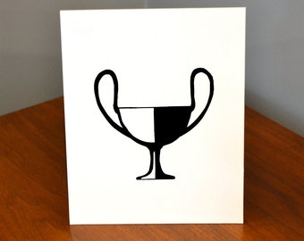 Classical Greek Pottery, Kantharos 2, 11x14 or 8x10 Original hand-cut paper art