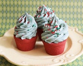 SALE-Christmas Tree Cupcake Bath Bomb - Frosted Cupcake, Teen Gifts, For Her, Stocking Stuffer,  Bath and Beauty