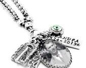 Memorial Jewelry, Custom Memory Necklace, Mom Memorial Necklace, Dad Memorial Pendant, Loss of Loved One, Personal Photo