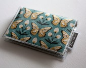 Handmade Vinyl Card Holder - Wingspan, card case, vinyl wallet, butterflies, snap, women's wallet, small wallet, pretty wallet, butterfly