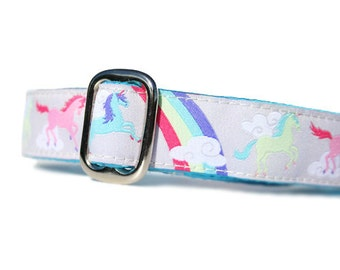 "1"" Dog Collar Unicorns  - Choose Your Collar Style!"