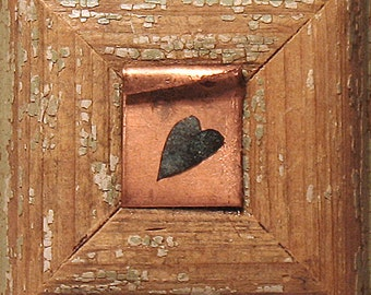 Be Mine - Heart Art - Original Mixed Media Assemblage - Architectural Salvage Wood Collage - Heart Wall Art - Love and Romance - Wedding Art