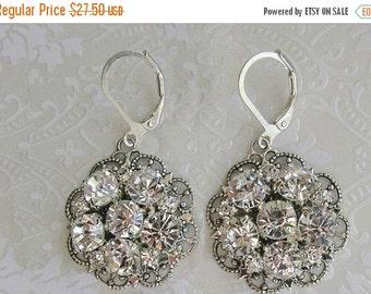 Sale Bridesmaids Earrings, Silver Dangle crystal Earrings, Bridesmaids Jewelry, Bridesmaids Gift, Wedding Jewelry, Bridal Earrings, Drop Ear