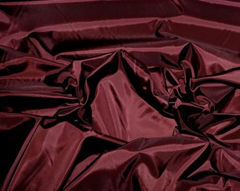 Poly Lining fabric 58 inches wide..Fino Burgundy  used for lining  jackets, skirts, dresses. vests, soft, light weight