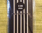 Size 0 (2.0 mm) double-point needle set