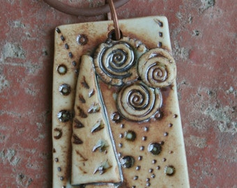 Starry Night Porcelain Pendant