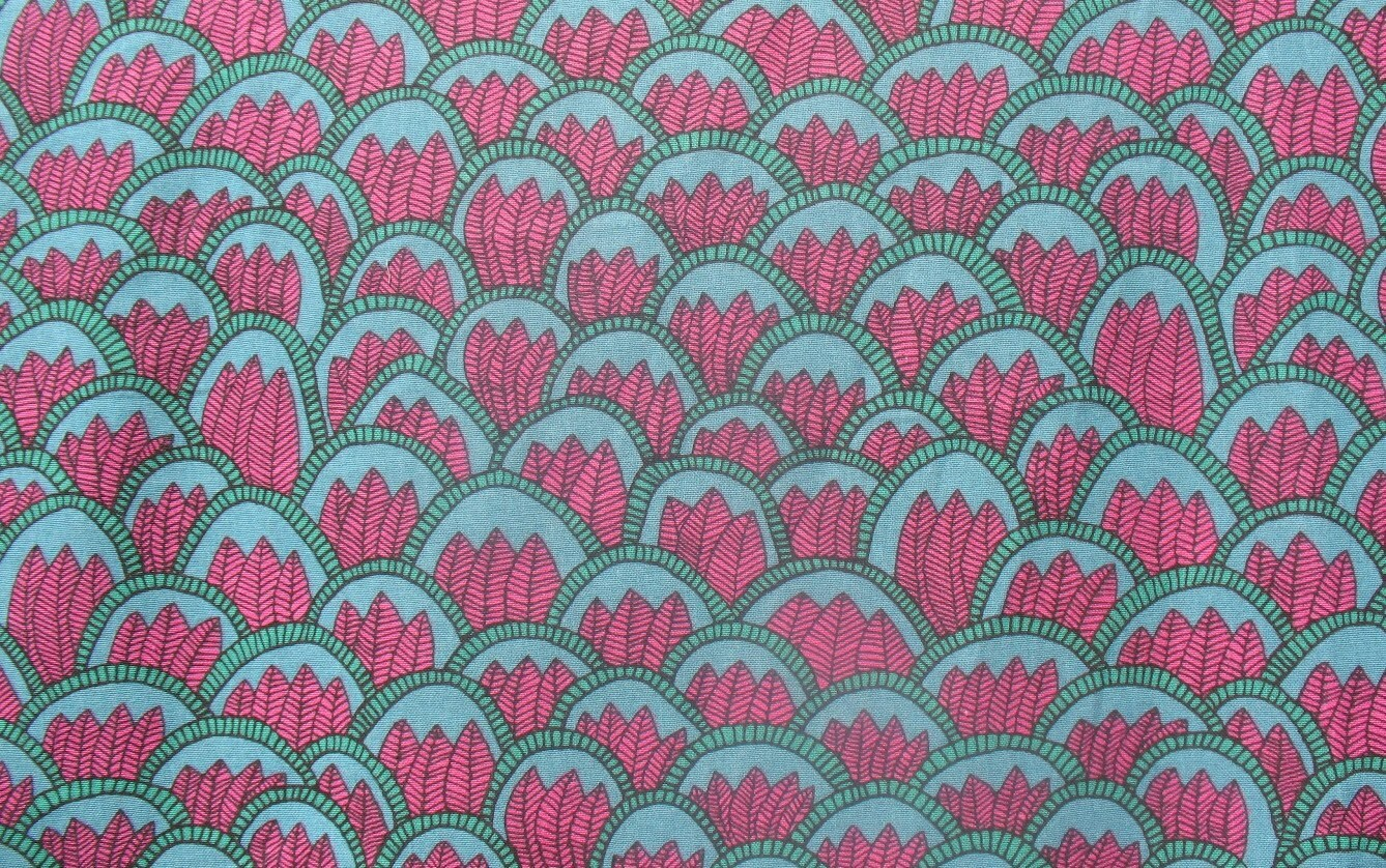 Pink Jungle - IKEA Tillfalle Cotton Fabric from
