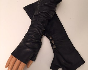 Long Black sexy Gloves