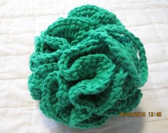 Crocheted Shower/Bath Pouf/Scrubbie  Mod Green