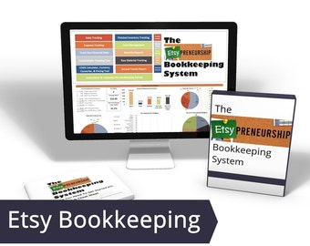 Etsy Accounting, DIY Bookkeeping, Inventory Tracking Etsy Expense, Microsoft Excel Spreadsheet, Easy Bookkeeping, Etsy Bookkeeper Accounting