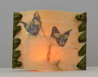 Siamese Cats Candle Opera Candle Holder