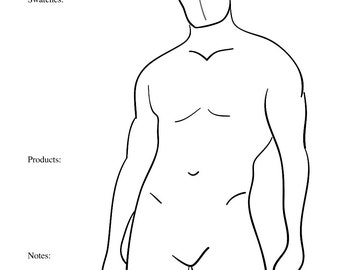 7 Male Body Paint Charts Body Templates for Body Painters