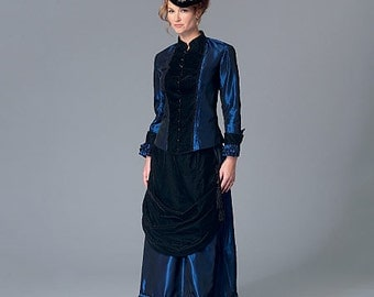 Sewing Pattern-Butterick 6305-Steampunk Blouse and  Skirt- Size 8- 16