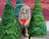 My Heart is Yours - Sasquatch Ornament - Bigfoot in Love