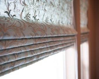 Classic Style Custom Roman Shades, Window Covering, Hemp, Organic, Cotton, Linen, Roman Blind, Natural Shades