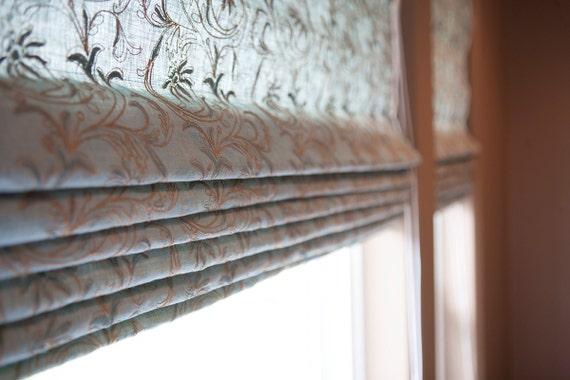 Classic Style Custom Roman Shades, Window Covering, Hemp, Organic, Cotton, Linen, Roman Blind, Natural Shades