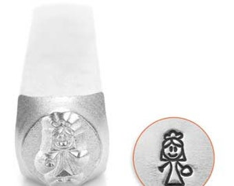 7mm Stick Bride Metal Design Stamp - ImpressArt Metal Stamps for DIY Metal Designs