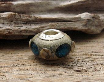 LARGE HOLE Bead - Handmade Lampwork Large Hole Bead - 1 Bead - #1