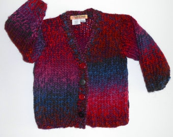 Size 6mos Hand Knit Baby Sweater