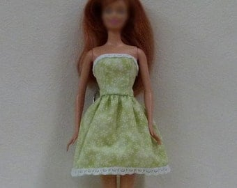"11.5"" Fashion Doll Dress Handmade - green"