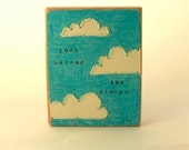 SALE! Look Beyond The Clouds Mini Reclaimed Wood Embroidery