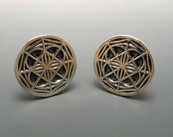 Universal or IKKA Sterling Silver Cufflinks