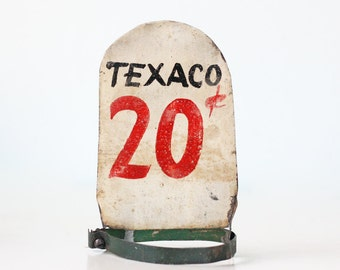 Vintage Gas Sign, Texaco 20 cents