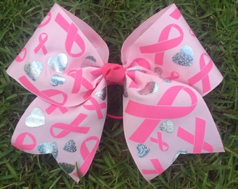 Special Order for Nicole Breast Cancer Cheer Bow