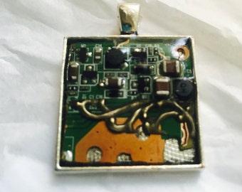 Pendant Geeky Circuit Board