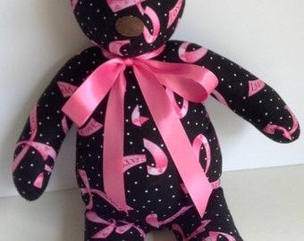 Handmade Breast Cancer Awareness Teddy Bear