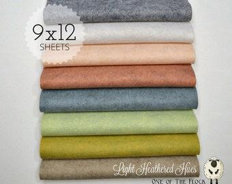 Light Heathered Hues, Wool Blend Felt, Wool Felt Sheets, Wool Felt Fabric, Felt Fabric Bundle, Wool Felt Bundles, Felt Collections