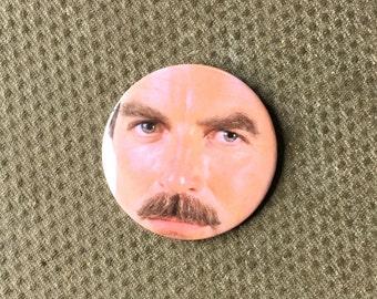 Tom Selleck 58mm Pin Badge