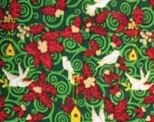 Christmas Holly Doves - 2 1/3 yards