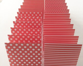 Mini Cards 24 red mix - blank for thank you notes 3 x 3