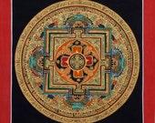 Mandala Thangka Painting from Nepal, Non-Profit, Buddhist Painting, Hand Painted Mandala, Nepalese Art, Tibetan Painting