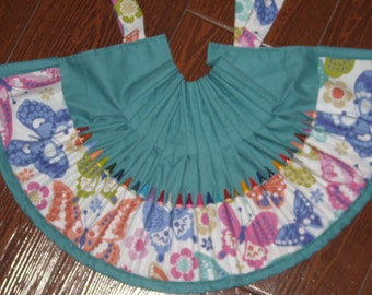 Paisleigh Wings of Fancy Butterflies Crayon apron