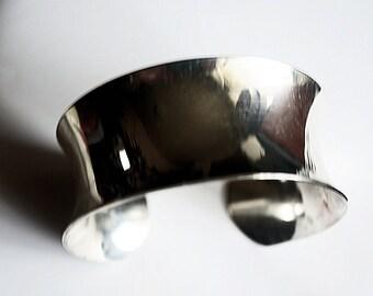 Wide Cuff Bracelet, Silver Cuff Style Bracelet, Vintage Silver Cuff Bracelet